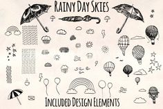 Rainy Sky Element Pack 80+ Graphics! By Violet LeBeaux