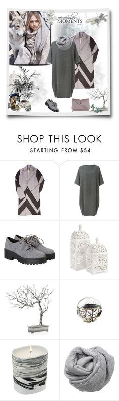 """Sweater dress"" by murenochek ❤ liked on Polyvore featuring MANGO, Tengri, Arts & Science, Monki, Imax Home, Diptyque, Janavi, Jil Sander, dress and Sweater"