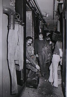 Frank Zappa backstage at Fillmore East, May 8, 1970. Copyright Amalie R. Rothschild.