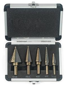 Neiko 10197A Set de 5 brocas niveladas para taladro con un estuche de metal, SAE Neiko http://www.amazon.com.mx/dp/B002GQ5AKG/ref=cm_sw_r_pi_dp_kEXiwb0PM2P2P