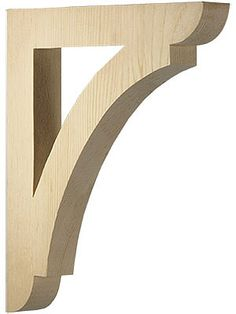 "Corbels and Brackets. Large Pine Shelf or Porch Bracket 12"" x 10 1/2"" x 1 1/2"""