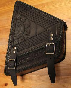 Chancey 77 Custom Leather_ Custom motorcycle bag