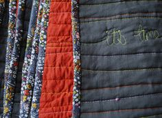 It's all about the quilting.  Myrtle & Eunice: The Anti-Quilt