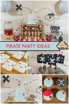 A Boy's Pirate Birthday Party Dessert Table - Spaceships and Laser Beams