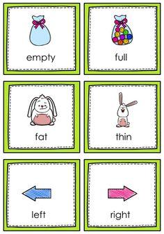 Opposites For Kids, Opposites Preschool, Preschool Learning, Kindergarten Worksheets, Preschool Curriculum, Preschool Activities, Reading Worksheets, Homeschooling, Worksheets
