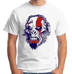 Velocitee Mens England Gorilla T Shirt English British UK Ape Head V168 #Velocitee