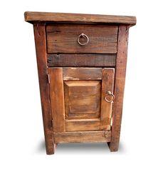 Hawk Creek Rustic Alder Wood Nightstand Jhe S Log Furniture Place