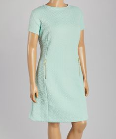 Another great find on #zulily! Pistachio Jacquard Sheath Dress - Plus by Sharagano #zulilyfinds
