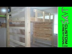How to build a loft bed. This is for a full size bed. Everything you need to build it as well as the SketchUp file for you to modify as needed is here. The foot board side is a full ladder that wil… Queen Loft Beds, Loft Bunk Beds, Bunk Beds With Stairs, Kids Bunk Beds, Build A Loft Bed, Loft Bed Plans, Murphy Bed Plans, Loft Beds For Teens, Diy Bett