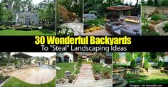 Here are thirty unique ideas for ways to liven up the landscaping in your own back yard. This post features beautiful photos as well as helpful suggestions to make your back yard perfect for entertaining and spending quality time with your family. NOTE: All to often visitors look at a... #spr #sum