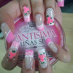 Spring Nails, Manicure, Finger, Nail Art, Rose, Lotus, Beauty, Art Nails, Designed Nails