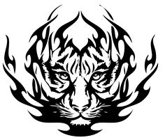 chinese tribal tattoo tiger | Tribal Tiger Tattoos- High Quality Photos and Flash Designs of Tribal ...