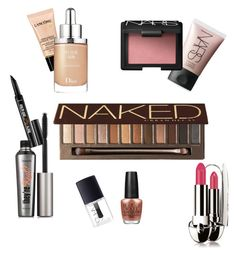 """""""Wish List """" by fulyaguray ❤ liked on Polyvore featuring beauty, Lancôme, Urban Decay, NARS Cosmetics, Benefit, Christian Dior, OPI and Guerlain"""