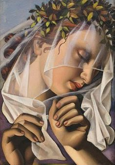 Tamara de Lempicka (1898-1980): Polish born American Art Deco painter.  http://bjws.blogspot.com/2011/02/art-deco-portraits-of-daring-worldwide.html