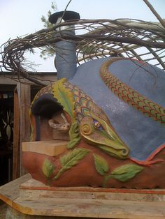 Winged Serpent Oven- BoTierra Farm by Artisan Builders Collective, via Flickr