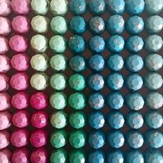 Incredible shades of colour for our Chocolate Gems  We flavour these and fill them with chocolate cookie crumb
