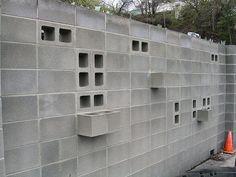 visibility through concrete block wall