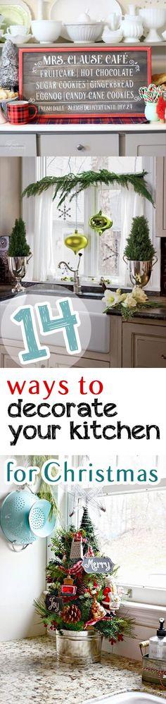 Kitchen decor, Christmas decorating hacks, DIY holiday, holiday decor hacks, kitchen decorating, dream kitchen, popular pin, DIY holiday, holiday decor.