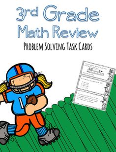 Self Checking task cards for your 3rd grade math class!