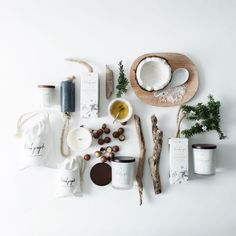 Flatlay Inspiration · via Custom Scene · Natural soaps and candles from The Beach People Bath Photography, Flat Lay Photography, Photography Props, Product Photography, People Photography, Photography Accessories, Lifestyle Photography, E Cosmetics, Natural Cosmetics