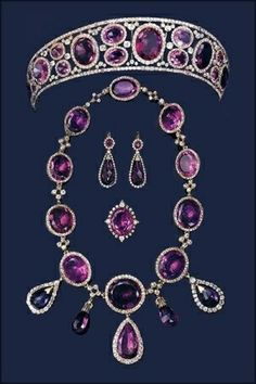Queen Mary's Amethyst Parure, holy cow! Love them both