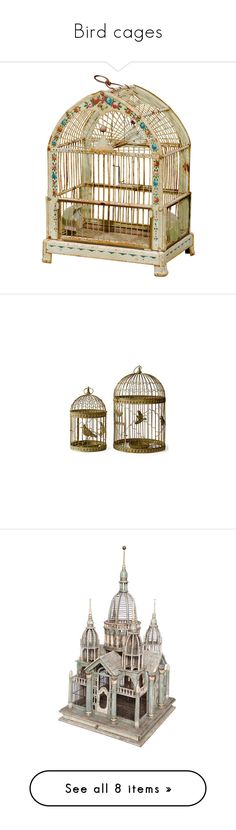 """Bird cages"" by kissfromhanoi ❤ liked on Polyvore featuring home, home decor, fillers, decor, birdcages, bird cages, bird cage home decor, wall art, backgrounds and birds"