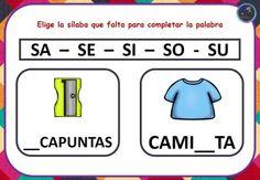 Fuga de sílabas (12) - Imagenes Educativas Google, Alphabet, Cognitive Activities, Teaching Reading