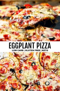 5 Minute Eggplant Pizza (Low Carb + Keto) - *NEW* Easy, cheesy, and TASTY –this eggplant pizza is about to become a staple in your low carb kitchen! All you need is ten minutes, two thumbs, and a handful of ingredients. Source by thelittlepine Easy Appetizer Recipes, Lunch Recipes, Low Carb Recipes, Breakfast Recipes, Cooking Recipes, Healthy Recipes, Eggplant Recipes Low Carb, Soup Appetizers, Smoothie Recipes