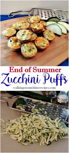 An easy recipe for Zucchini Puffs from Walking on Sunshine Recipes.(Easy Recipes To Try) Side Dish Recipes, Veggie Recipes, Cooking Recipes, Healthy Recipes, Easy Zuchinni Recipes, Noodle Recipes, Easy Recipes, Keto Recipes, Bisquick Recipes