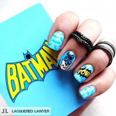 Gotham lovers unite! Learn how to paint these Batman nails.