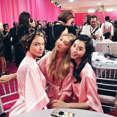 Gals getting glam for the Victoria's Secret Fashion Show