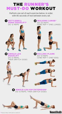 The 5-Move Workout That's Critical for Runners   Women's Health Magazine