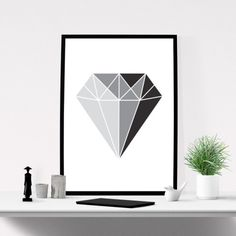 Diamond Print, Printable Wall Art, Modern Wall Art, Graphic Poster, Abstract Art, Printable Art, Scandinavian Art, INSTANT DOWNLOAD ART