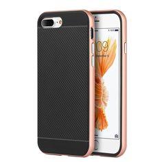 DW Carbon Hybrid Bumper iPhone 7 Plus Case - Rose Gold - MyPhoneCase.com - 1
