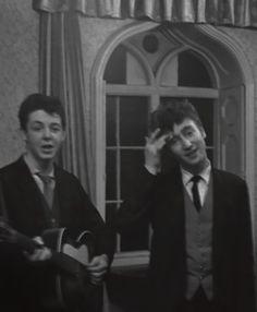 maccasmccartney: year-old Paul McCartney and 18 year-old John Lennon. Paul Wesley, John Paul, John Lennon Paul Mccartney, Young John, Beatles Photos, Teddy Boys, Kellin Quinn, The Fab Four, Janis Joplin