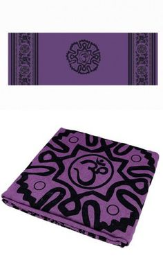 Yoga Mat Towel Non-slid Skid Resistance Widen Thicken Anti-slip Injury Free Mat-Sized Super Absorbent Fitness Exercise Travel Towels Hot Yoga Bikram Yoga Blanket Carpet With The Western Region Prtiting (purple)