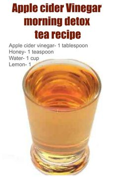 Apple Cider Vinegar Detox Drink Raw Honey & Apple Cider Vinegar http://www.easybodyfit.com/apple-cider-vinegar-detox-drink/