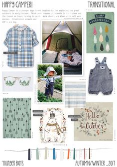 Happy Camper is an younger boys trend inspired but exploring the great outdoors, camping and surviving in the autumn time. Happy Campers, Style Outfits, Kids Outfits, Kids Clothes Uk, Kids Clothing, Clothing Ideas, Color 2017, Colour, Style Hipster