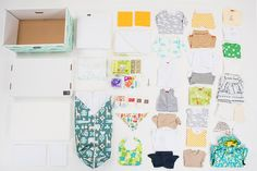 Contents inside Finnish Baby Box