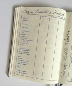bullet journal budge