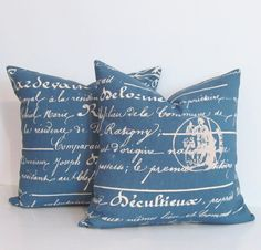 Hey, I found this really awesome Etsy listing at https://www.etsy.com/listing/178805746/vintage-french-script-accent-pillow