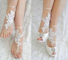 www.feminiya.com  Lace foot jewelry:
