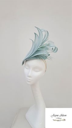 Ocean Blue, Pale Wedding Fascinator, Mother of the Bride Hat, Ladies day fascinato Bridal Fascinator, Wedding Fascinators, Wedding Hats, Fascinator Hats, Headpieces, Derby Du Kentucky, Kentucky Derby Fascinator, Derby Hats, Ladies Day