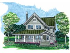 Craftsman Style 2 story 3 bedrooms(s) House Plan with 1568 total square feet and 2 Full Bathroom(s) from Dream Home Source House Plans