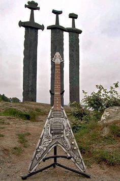 Viking guitar in Stavanger