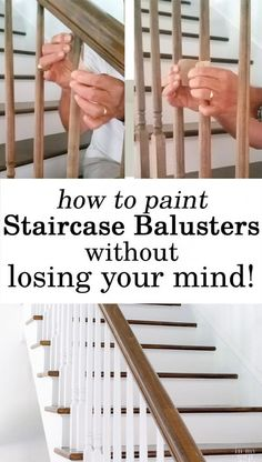 Home Improvement. How to makeover a staircase and paint the balusters without losing your mind