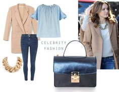 This leather bag with splendid metallic effects would go perfectly with the simple yet wonderful outfit worn by the beautiful actress Rachel McAdams. Get inspired by her graceful look and experiment with different stylish combinations.