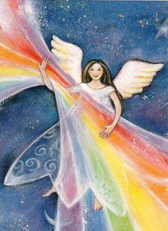 regenboog-engel by Geertje van der Zijp