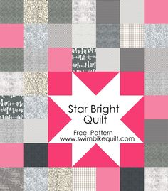 Star Bright Quilt Free Pattern in Pink 896x1024 Star Bright Quilt Free Pattern + Giveaway