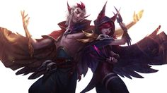 Rakan and Xayah Render League of Legends by UberWild